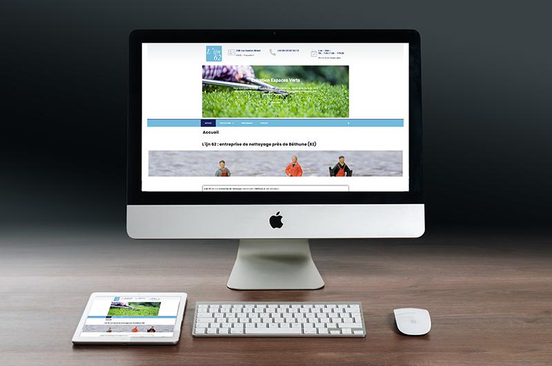 Site internet web LIJN62 entreprise nettoyage Béthune Hauts de France